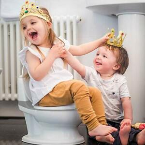 Potty Training Toilet with Life-Like Flush Button & Sound for Toddlers & Kids