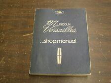 Original 1977 Lincoln Versailles Shop Manual Book