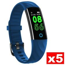 5 Pieces Fitness Tracker NOZIROH Watch IP68 Calorie Steps Gym For Ios Andro Blue