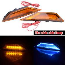 Front Bumper Reflector Side Marker Light LED Lamps Fit For 16-19 Honda Civic