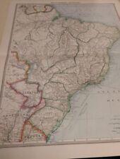 NE South America Nos 191-192: Map from Harmsworth Universal Atlas (c.1900)