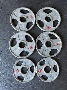 EUC lot of weilder weight plates four 5LBS and two 2.5LBS for oylmpic barbell