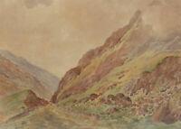 Late 19th Century Watercolour - Highland Mountain Landscape