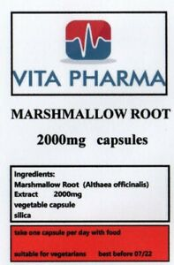 Marshmallow Root 2000mg 30 Capsules | ACID REFLUX, STOMACH ULCERS SUPPORT