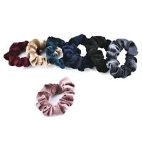 5Pcs Ponytail Velvet Elastic Hair Rope Tie Scrunchie Holder Women Hair Ring TR