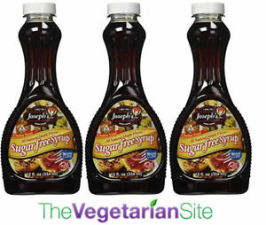 3-PACK - FREE PRIORITY MAIL - Joseph's Sugar Free Maple Syrup - NEW formulation