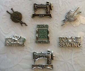Sewing brooch~Pin Badge~Seamstress Gift~Sewing Gift~Knitting Pin~quilting badge