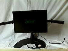 "acer v223w 19"" lcd breitbild monitor mit anbau material, kabel, anleitung"