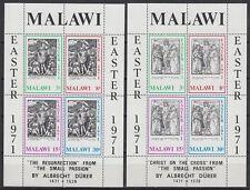 Malawi 1971 ** Bl.22/23 Ostern Easter Religion Gemälde Paintings Dürer [st1504]