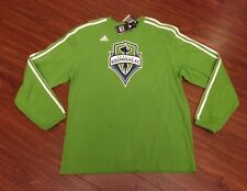 Seattle Sounders FC Adidas Long Sleeves Jersey Shirt Men's Medium New With Tags