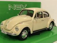 1959 Volkswagen Escarabajo Crema 1:24 27 Escala Welly 22436C