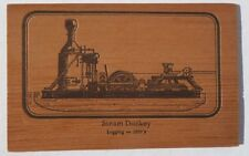 Steam Donkey Postcard made of Redwood
