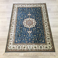 YILONG 3'x4' Small Handmade Silk Carpet Blue Home Decor Oriental Area Rug 176A