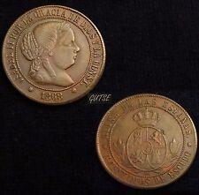 *GUTSE*514-ISABEL II, 5 CÉNTIMOS DE ESCUDO 1868, BARCELONA OM, EBC