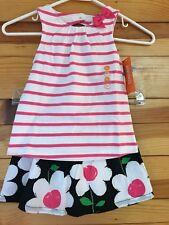 NWT Gymboree Girls Daisy Park 3 Piece Pink Bow Top & Daisy Skirt 12-18 Months