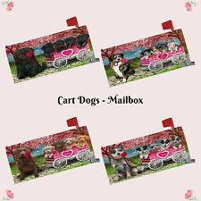 I Love Cart Dog Cat Mailbox Cover,Valentine Pet Photo Lovers Outdoor Decor Gift