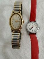 Timex Womens Watch Stainless Steel Back CR 1216 cell & Timex BA cell