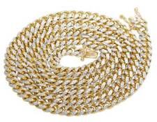 Men's Solid Yellow Gold Genuine Miami Cuban Diamond Chain 5.5 MM 26 Inch 52 GM