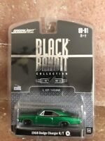 2008 GreenLight Green Machine CHASE Black Bandit 1968 DODGE CHARGER R/T #43/4032