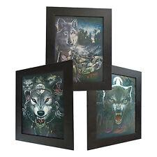 3 Dimension 3D Lenticular Picture Wolf Werewolf Bike Full Moon Night Fierce Dark
