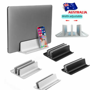 Vertical Laptop Stand Aluminium Adjustable Universal Pad Tablet Desktop Holder