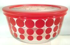 New Pyrex 4 cup red dots storage serving gifting bowl 100 anniversary