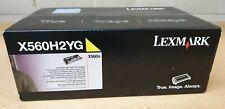 Genuine Lexmark X560H2YG X560N Yellow Toner Cartridge Brand New See Photo