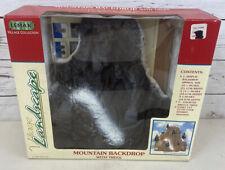 "Lemax Village Landscape 81012  Styrofoam 12"" Mountain Backdrop 1998 NEW in Box"