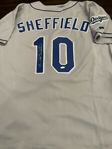 Gary Sheffield Signed Los Angeles Dodgers Authentic Russell Jersey- Steiner