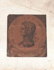 TITO FLAVIO DOMIZIANO IMPERATORE ROMANO DOMITIAN ROMAN EMPEROR Incisione 1700