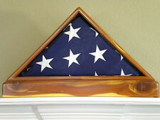 RED CEDAR VETERAN MEMORIAL FLAG DISPLAY CASE 5X9 US MILITARY FUNERAL BOX