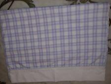 Laura Ashley vintage checkered flat lavender twin sheet & case, $15 free shippin