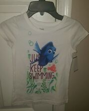 "Girl's Finding Dory ""Just keep swimming"" Sz 6 NWT"