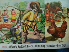 Ladybird Classic Bedtime Stories 3 Books Mug Coaster Door Sign Gift Set 4
