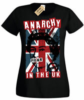 Anarchy in The UK Punk Rock T-Shirt Pistols rotten Womens Ladies