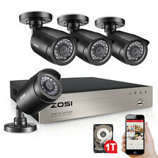 ZOSI 8CH 1080N DVR 720P CCTV Home Security Camera System Surveillance 1T + Gift