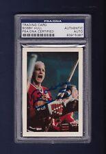 Bobby Hull signed Blackhawks 1967 Time Life hockey card Psa Authenticated