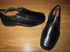 Clarks 'Structured' Black Loafers - Men's 11.5W European 45.5 EUC