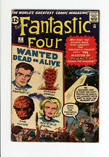 """FANTASTIC FOUR #7 VG """"MASTER Of PLANET X""""- Great JACK KIRBY Cover & ART 1962"""