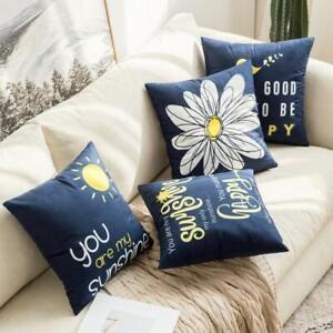 Set of 4 Bird Sunshine Flower Decoretive Cute Throw Pillow Covers 18 x 18 Inch