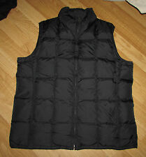 EDDIE BAUER women's medium vest zip front DOWN FILL black EUC Nice REDUCED!