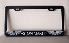 "Black ""ASTON MARTIN"" License Plate Frame, Custom Made of Powder Coated Metal"
