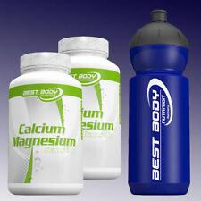 (9,98€/100g) Best Body Nutrition Calcium Magnesium 2 x 100 Kapseln + Sportbottle