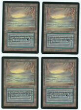 4x Beta Underground Sea Playset (Old school Player from 1995) MTG Magic