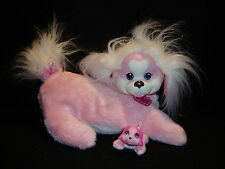 PUPPY SURPRISE ZOEY MOM Girl DOG W/ 1 Baby Puppy Pink Plush Exc. Cond 2014