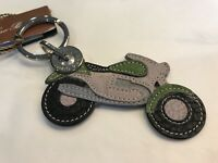 250$ Loro Piana Leather My Motorcycle Key Chain Made in Italy