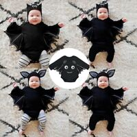 Newborn Infant Baby Boys Girls Halloween Cosplay Costume Romper Hat Outfits Set