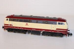 N Gauge Fleischmann DB BR218 Red/Cream