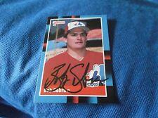 Bob Sebra Montreal Expos 1988 Donruss Autographed Baseball Card