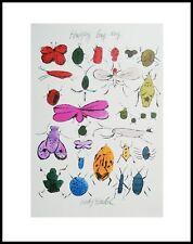Andy Warhol HAPPY BUG DAY Poster Art Imprimé Image dans le cadre alu noir 36x28cm